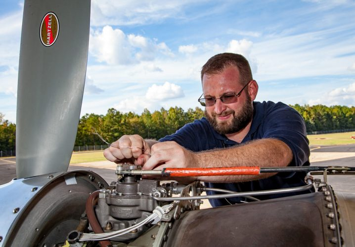 Jonathan Faught is in the final stages of training before going to Papua Indonesia as a PC-6 Porter pilot-mechanic.