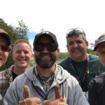 The runway cutting crew: Andrew Tieman, Steve Bevelhymer, Scott Musselman, Mike Bunn, B.J. Diggins