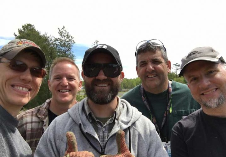 The runway cutting crew: Andrew Tieman, Steve Bevelhymer, Scott Musselman, Mike Bunn, B.J. Diggins