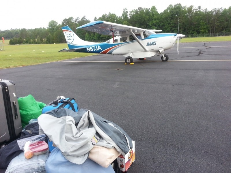 Cessna 206 ready to load up for the flight to the NC mountains.