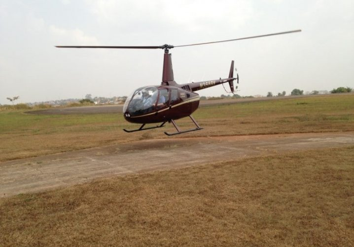How good it is to share a photo of the R66 reassembled in Cameroon!
